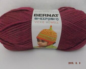 Bernat Sheepish Yarn ~ Raspberry(ish) ~ Wool Blend ~ #4 Medium ~ 85 grams ~ 3 ounces ~ 167 yards