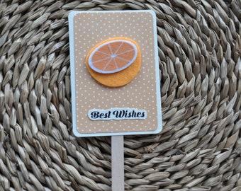 Ice Cream #1 Handmade Greeting Card Orange Best wishes