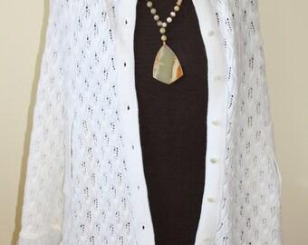vintage white knit cape