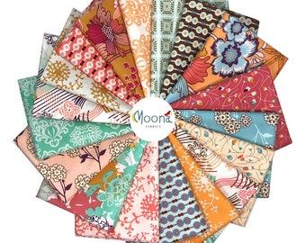 Fat Quarter Bundle, Art Gallery Summerlove, Patricia Bravo, Quilt Fabric, Cotton Fabric, Shabby Chic, Floral, Fabric Bundle, 18 Fat Quarters