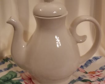 Hand Made Ceramic Solid White Teapot