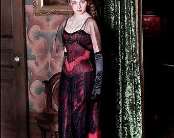 "Victorian Satin & Lace Corset  (22"" waist)"