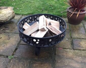Garden Fire Bowl with Decotive Surround