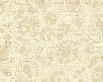 Windham - Wild Woods - Monotone Floral - Cream - Fabric by the Yard 41126-1