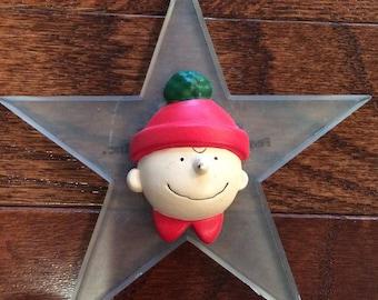 SALE/ vintage Silvestri Charlie Brown Peanuts star Christmas ornament