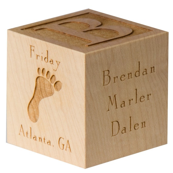 Personalized baby block new baby gift newborn baby gift like this item negle Choice Image