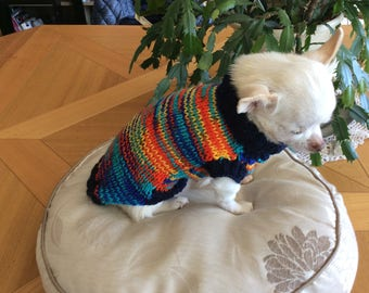 Coat Wool Sweater, dog or cat.. .about 1 kg to 2 kg. length 25 cm
