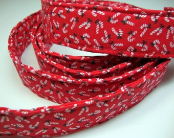 Holiday Candy Cane Red Leash Small