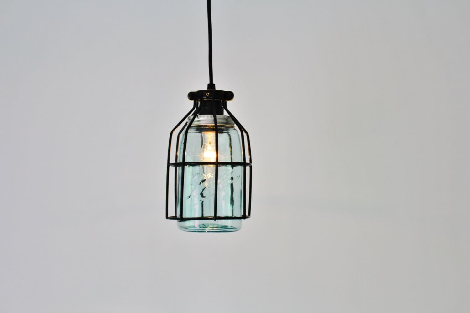 Pendant light black cage hanging pendant lamp antique early zoom arubaitofo Gallery