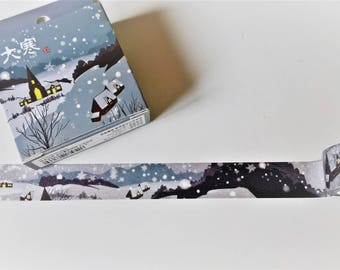 Winter snow washi tape, christmas washi tape, washi tape, MT, washi tape uk, journal, planner,crafting tape