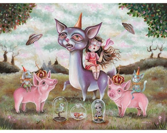 Out of sight - Pop surrealism original painting