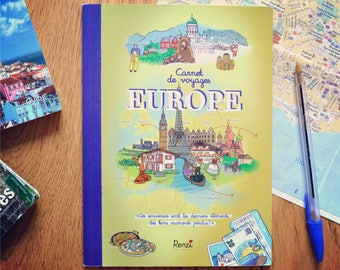 Notebook Europe to fill (pictured, fun, educational) for adults and children