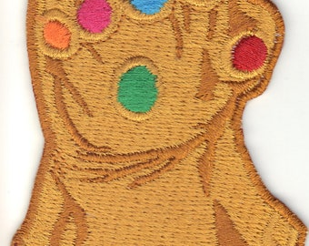 Thanos Gauntlet Patch With Infinity Stones - Marvel Infinity War - Infinity Stones War with Iron Man Hulk Thor Spiderman