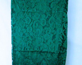 Lace - tend green curtains.
