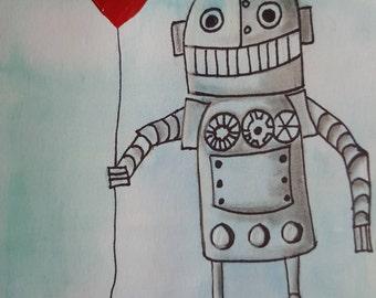 Friendly Robot Print