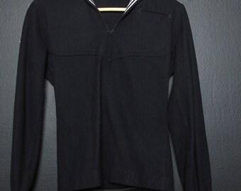Sailor Navy wool shirt with collar