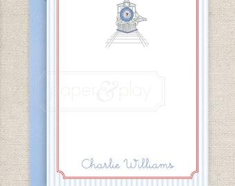 25 Printed Choo Choo Train Thank You Cards