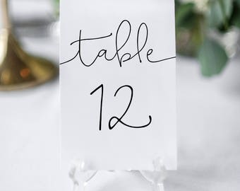 Diy Table Numbers Etsy - Wedding table numbers template