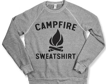 Campfire Sweatshirt Sweatshirt Camping Adventure Grand Canyon Campfire Outdoors Sweatshirt Hoodie Alternative Apparel Eco Grey Crewneck