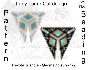 Triangle peyote pattern, Geometric patterns, Sun peyote patterns, Beading patterns, Beadwork patterns, Seed beads patterns, Peyote stitch