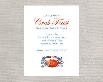 Maryland Blue Crab Invitations