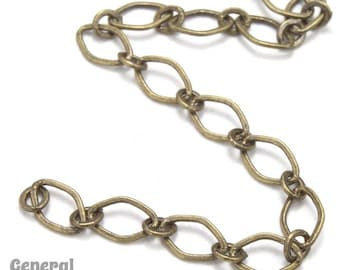 4mm x 3mm Antique Brass Oval Link Cable Chain #CC252