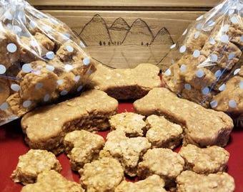 Vegan peanut butter and Apple sauce dog cookies