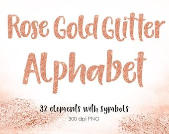 Rose gold letter | Etsy