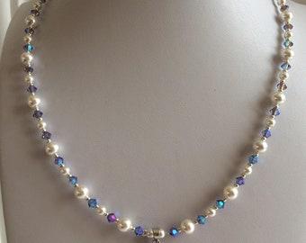 SWAROVSKI Crystal Heart Necklace - purple
