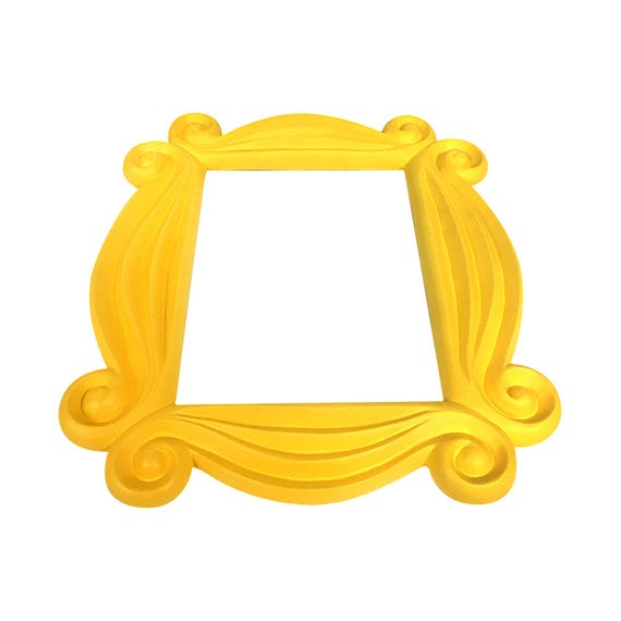 Friends Frame Yellow Peephole Door Prop F-R-I-E-N-D-S TV Show