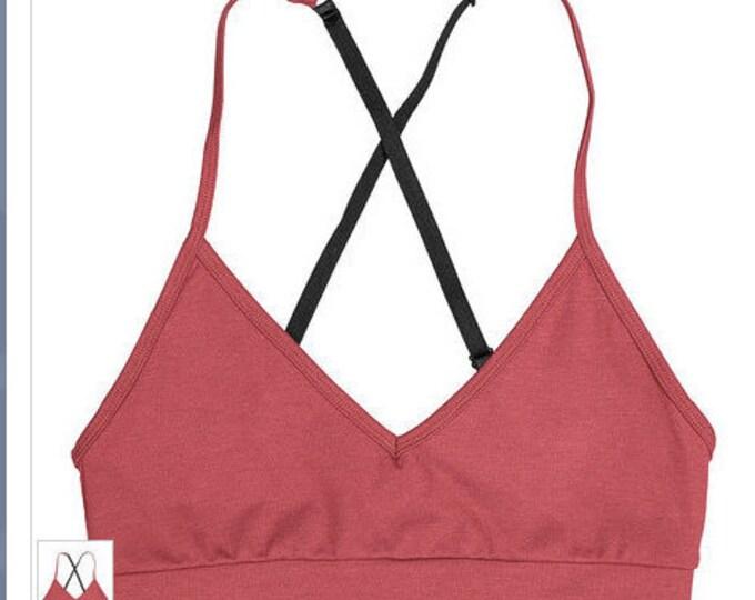 Organic Yoga Bra,  Organic Bamboo Yoga Bra, Organic Cotton Yoga Bra, Sports Bra, Workout Bra , Yoga Wear, Dance wear,  Bra, Now! -34.00