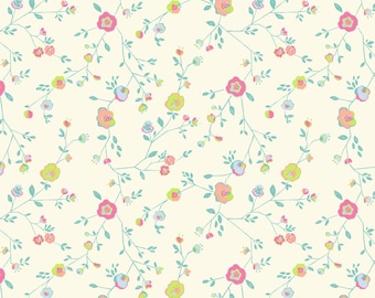 Woodland Floral Ivory Garden Party  - Katy Tanis  - Blend Fabrics - 100% Quilters Cotton
