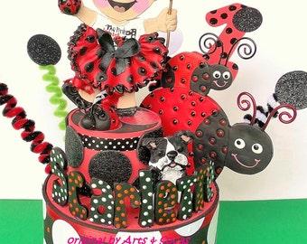 Ladybug Birthday Cake topper - Ladybug party - 1st birthday cake topper - Ladybugs Birthday Cake topper - Ladybug Party centerpiece