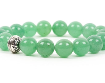 Aventurine Bracelet, Natural Green Gemstone Bracelet, Hearth Chakra Healing, Gemstone Bracelet, Handmade Jewelry, Gemstone Jewelry