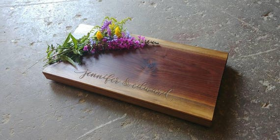 Personalized Cheese Board 8x18x1.5, Thick Walnut Cheese Board, Wedding Cheese Board, Wedding Cutting Board, Cutting Board