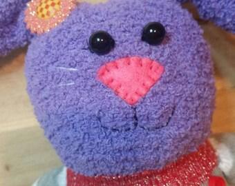 Sabine, Valentine's Day, Sock bunny, handmade plush