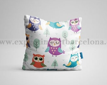 Cushion Owl Cushion. OWL cushion. 35x35cm/best friend gift/Boho cushion/animal pad/best friend gift/