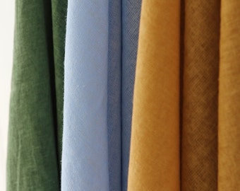 Linen Gauze Fabric in 2 Colors By The Yard