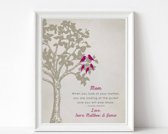 Christmas Gift Print for Mom - Mom Birthday Gift - Personalized Print - Mom Wedding Gift - Gift from Daughter or Son - Thank You Mom