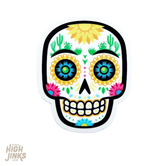 """Deset Sugar Skull : 3"""" Vinyl Sticker"""