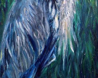 Avalon Heron -  Original Painting by Laura Daligan