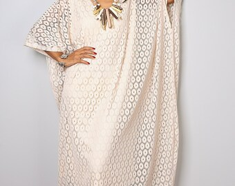 Lace Kaftan Dress / Maxi Dress / Bohemian Caftan Dress : Bitter Sweet Collection no. 1