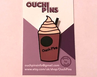 Personalised Frappuccino Pin Badge