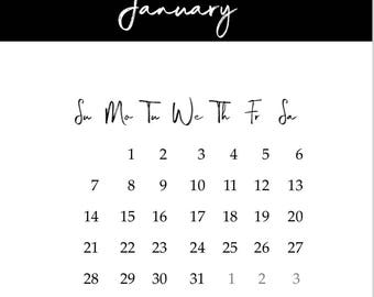 Simple and Classic 2018 Calendar