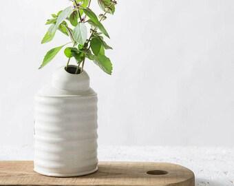 interesting white ceramic vases. Ceramic Vase  White Flower Pot Modern Home decor Minimalist Unique ceramic vase Etsy