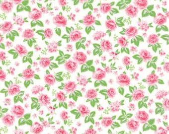 Pink Roses - Sew and Sew Fabric from Moda