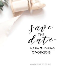 Save the Date stamp • Wedding monogram • Wedding rubber stamp • DIY Save the Date • Wood stamp • Wedding Calligraphy