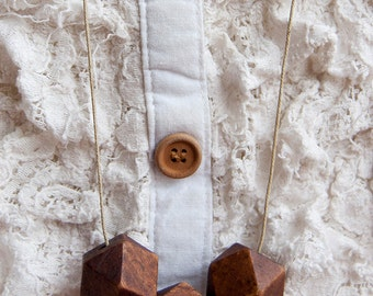 Brown Geometric Necklace