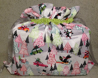 Holiday Fabric Gift Bag - Large