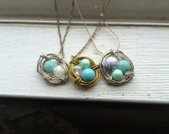 Mother's Bird Nest Necklace